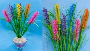 Bunga Lavender dari Sedotan Plastik